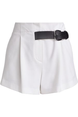 ALICE+OLIVIA Women Sports Shorts - Women's Adelina Belted Pleated Shorts - - Size 6