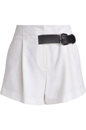 ALICE+OLIVIA Women Sports Shorts - Women's Adelina Belted Pleated Shorts - - Size 6