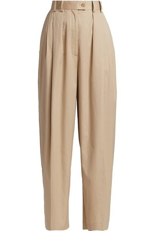 The Row Men's Marian Techno Cotton Trousers - Pale - Size 4