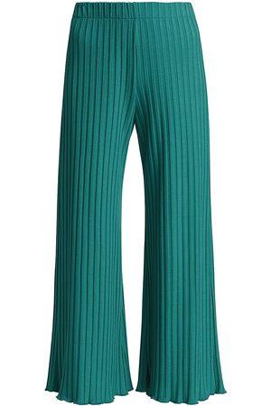 SIMON MILLER Women Pants - Women's Alder Rib-Knit Crop Pants - Pool - Size Large