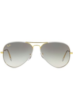 Ray-Ban Men Aviators - Men's 62MM Aviator Sunglasses - Grey