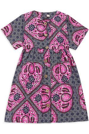 Elisamama Girls Printed Dresses - Little Girl's & Girl's Funmi Boho Floral A-Line Dress - Size 7