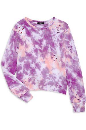 Flowers By Zoe Girl's Distressed Tie-Dye Sweatshirt - Multi - Size 7
