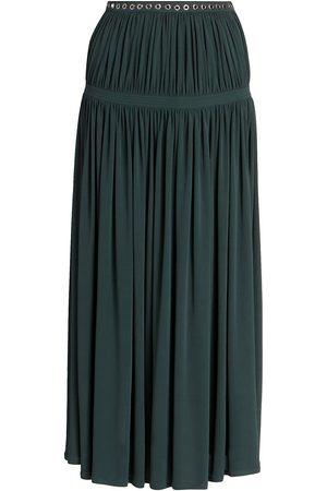 Chloé Women Midi Skirts - Women's Fluid Pleated Midi Skirt - Eclipse - Size 8