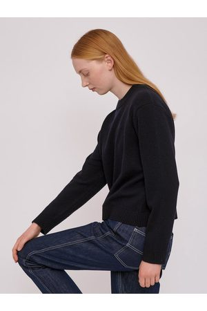 Organic Basics Recycled Wool Boxy Knit in Navy