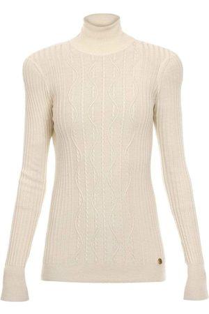 Balmain High Neck Cable Knit Sweater