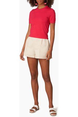 Carolina Herrera Azalea Short Sleeve Knit T-Shirt