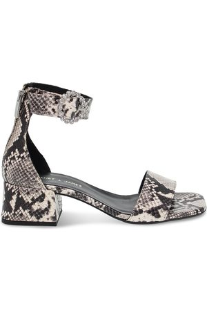 Janet&Janet WOMEN'S JANET45200 GREY LEATHER SANDALS