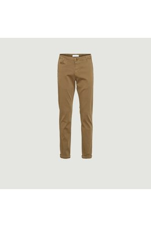 Knowledge Cotton Apparal Men Straight Leg Pants - Chuck Straight cut Chino Pants Burned Olive Knowledge Cotton Apparel