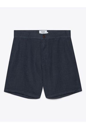Wax London Holm Linen Shorts Navy