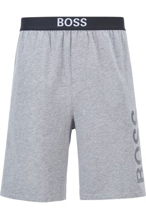HUGO BOSS IDENTITY SHORTS Grey Logo-Print Pyjama Shorts in Stretch-Cotton Jersey 50449829
