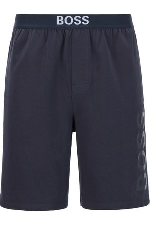 HUGO BOSS IDENTITY SHORTS Dark Logo-Print Pyjama Shorts in Stretch-Cotton Jersey 50449829