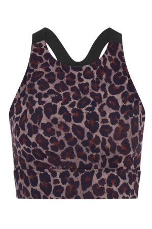 Varley Tort Leopard Sherman Bra
