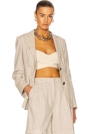 Frame Madison Blazer in Beige