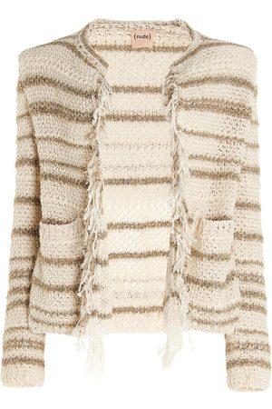 NUDE Women Cardigans - WOMEN'S 1101505295 BEIGE COTTON CARDIGAN