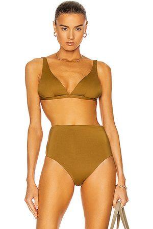 ASCENO The Cannes Bikini Top in Olive