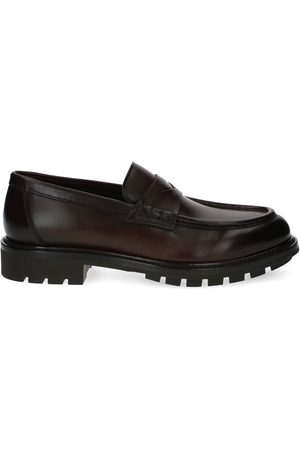 santoni MEN'S MGWB16958JL5SUTAS32 LEATHER LOAFERS