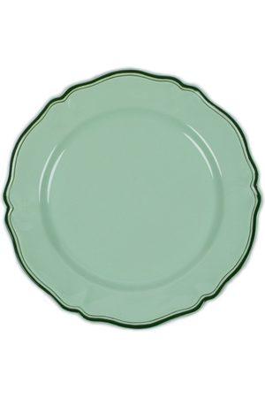 Moda Domus ; Hand-Painted Ceramic Serving Plate - Color: /pink - Material: Ceramic - Moda Operandi