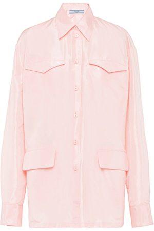 Prada Women's Silk Long Sleeved Shirt - - Moda Operandi