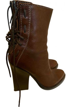 ANN DEMEULEMEESTER Women Ankle Boots - \N Leather Ankle boots for Women