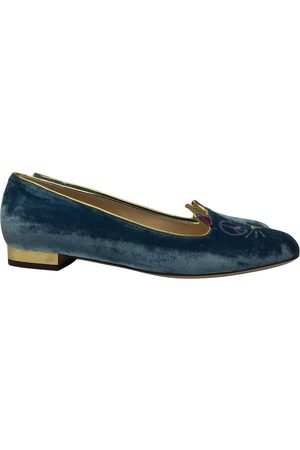Charlotte Olympia Women Ballerinas - Kitty Velvet Ballet flats for Women