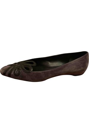 Roger Vivier Women Ballerinas - \N Suede Ballet flats for Women