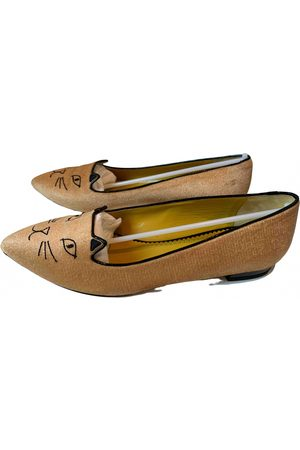 Charlotte Olympia Kitty Velvet Ballet flats for Women