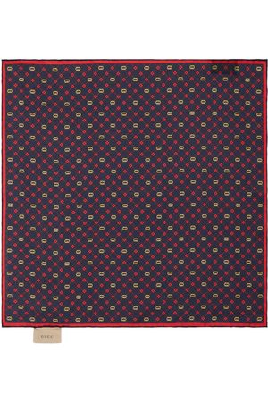 Gucci Men Scarves - Logo Silk Handkerchief