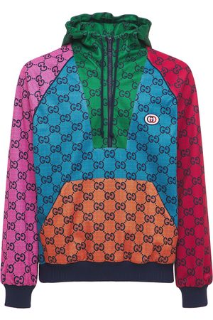 Gucci Gg Tech Jersey Zip Hoodie
