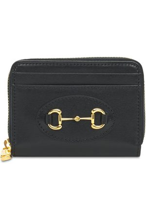 Gucci Women Purses - Horsebit 1955 Card Case Leather Wallet