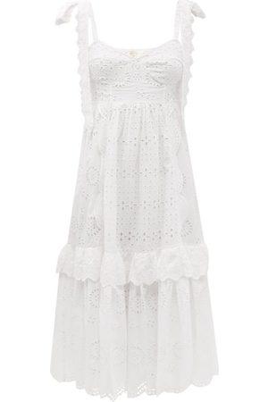 LOVESHACKFANCY Antonella Broderie-anglaise Cotton Sun Dress - Womens
