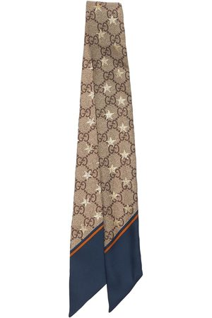 Gucci Gg Stars Print Silk Neck Bow