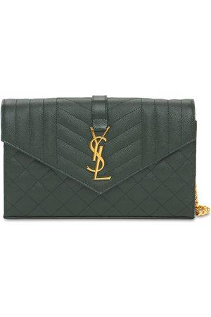 Saint Laurent Women Wallets - Monogram Matelassé Leather Chain Wallet