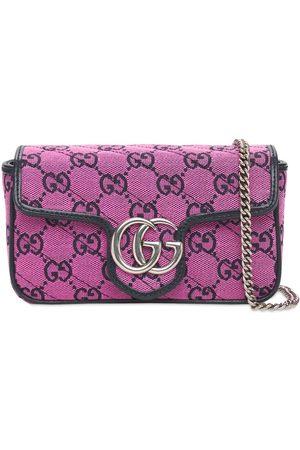 Gucci Women Shoulder Bags - Gg Marmont Multicolor Canvas Bag