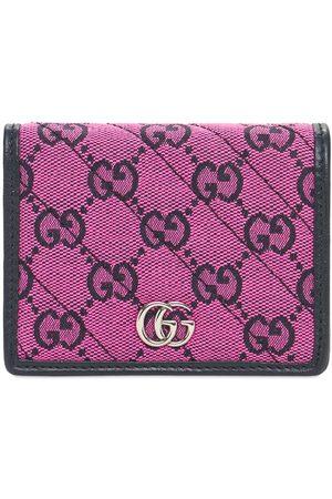 Gucci Gg Marmont Multicolor Canvas Wallet