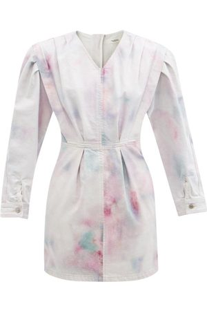 Isabel Marant Lacanau Tie-dye Denim Mini Dress - Womens - Multi