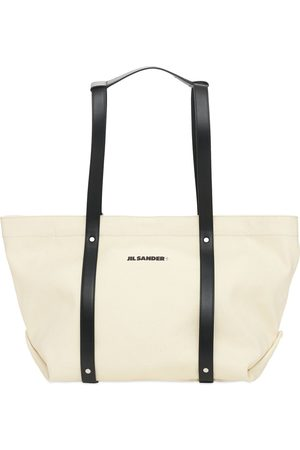 Jil Sander Canvas & Leather Tote Bag