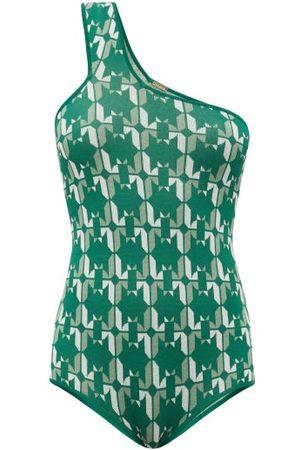 DODO BAR OR Lynn One-shoulder Star-jacquard Bodysuit - Womens - Print