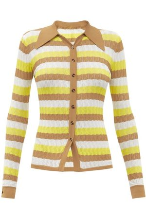 DODO BAR OR Women Cardigans - Tilda Striped Pointelle Cardigan - Womens - Multi