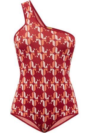 DODO BAR OR Women Bodies - Lynn One-shoulder Star-jacquard Bodysuit - Womens - Multi