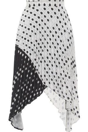 Thebe Magugu Women Printed Skirts - High-rise Fingerprint-print Crepe Midi Skirt - Womens