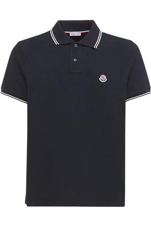 Moncler Men Polo Shirts - Cotton Piqué Polo Shirt