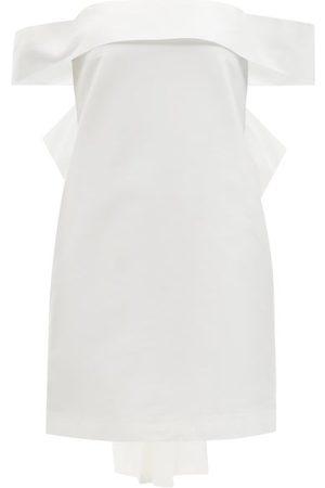 Bernadette Women Party Dresses - Julia Bow-back Satin Mini Dress - Womens - Ivory