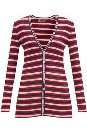 Missoni V-neck Striped Jersey Cardigan - Womens - Multi