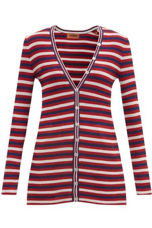 Missoni Women Cardigans - V-neck Striped Jersey Cardigan - Womens - Multi