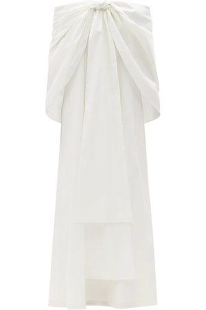 Bernadette Willow Bow Off-the-shoulder Taffeta Dress - Womens - Ivory