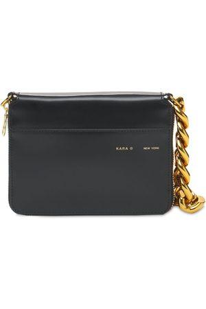KARA Women Wallets - Large Leather Chain Wallet