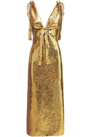 Paco rabanne Women Casual Dresses - Embroidered Jersey Sequined Long Dress