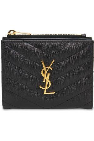 Saint Laurent Women Wallets - Monogram Embossed Leather Card Holder