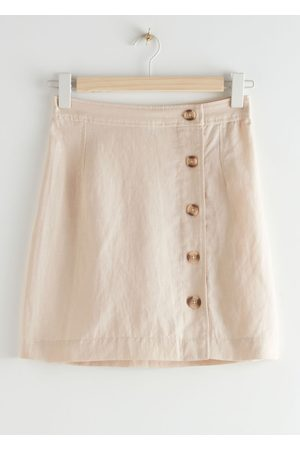 & OTHER STORIES Front Button Mini Skirt